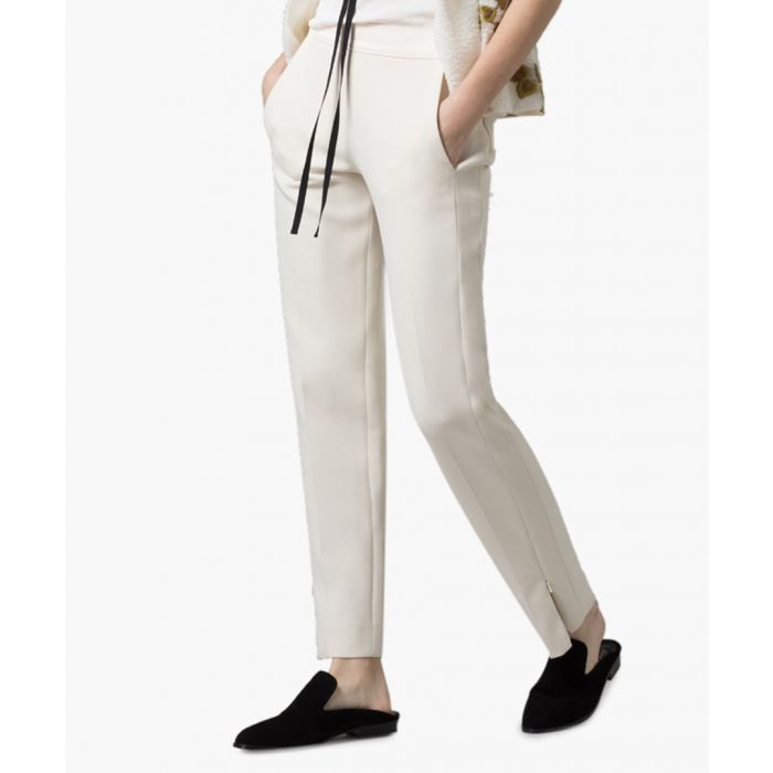Image for Cream tailored peg trousers