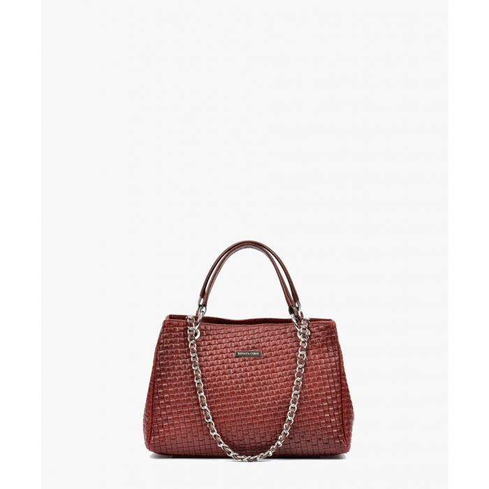 Image for Wine leather shopper