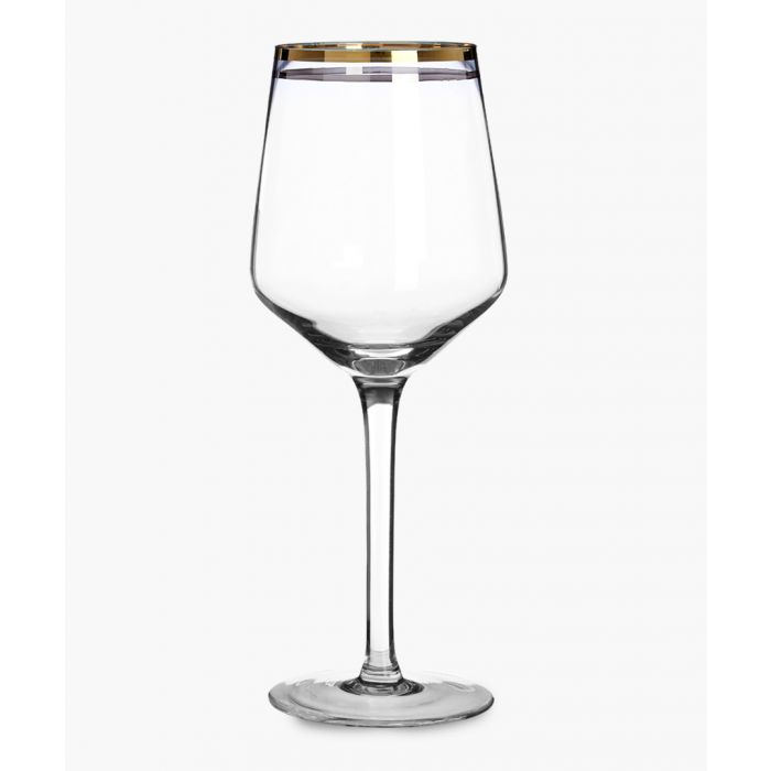 Image for 4pc Charleston gold and silver-tone stripe wine glasses