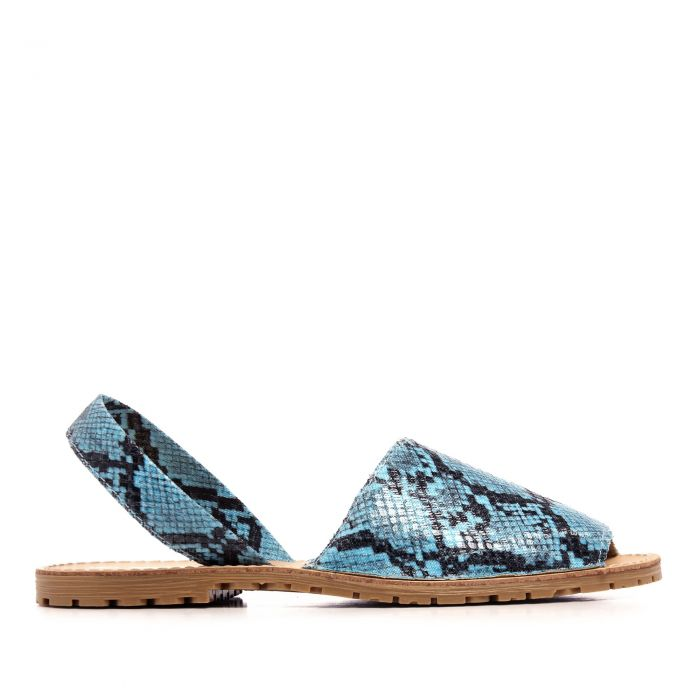 Image for Womens sandal blue snake print