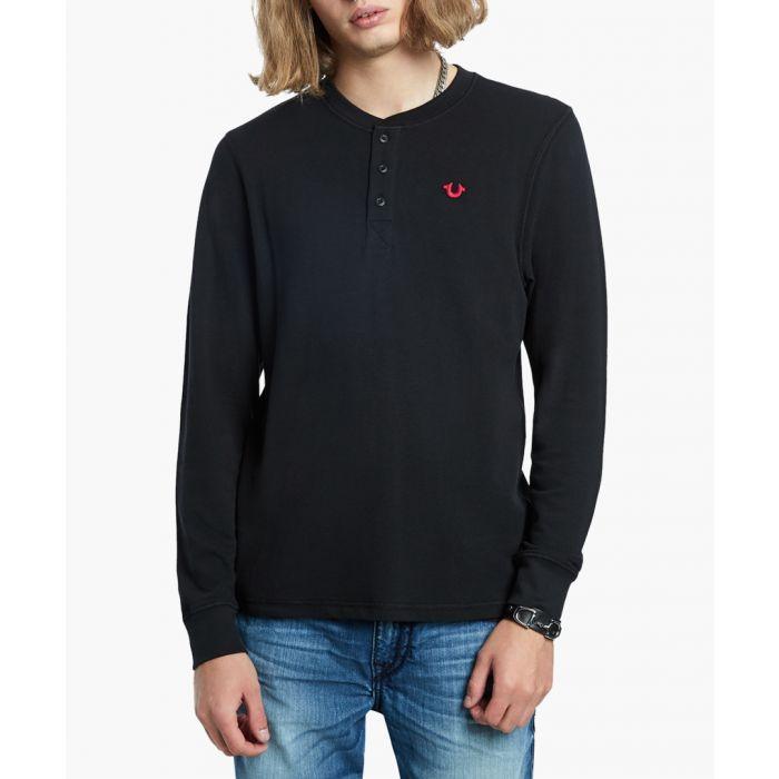 Image for Henley black jumper