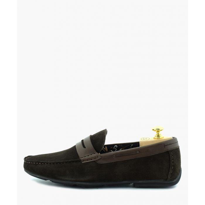Image for Driver brown suede penny loafers