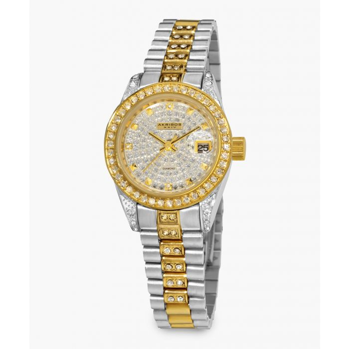 Image for Silver and gold-tone embellished watch