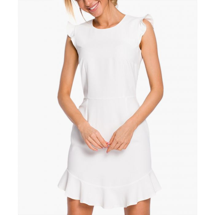 Image for Ecru cap sleeve mini dress