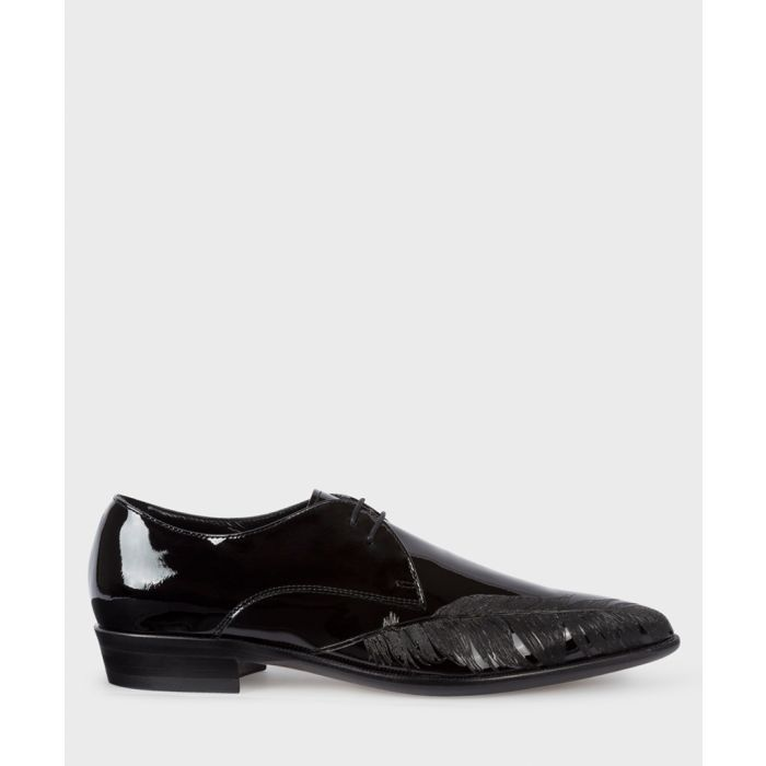 Image for Black leather lace-up brogues