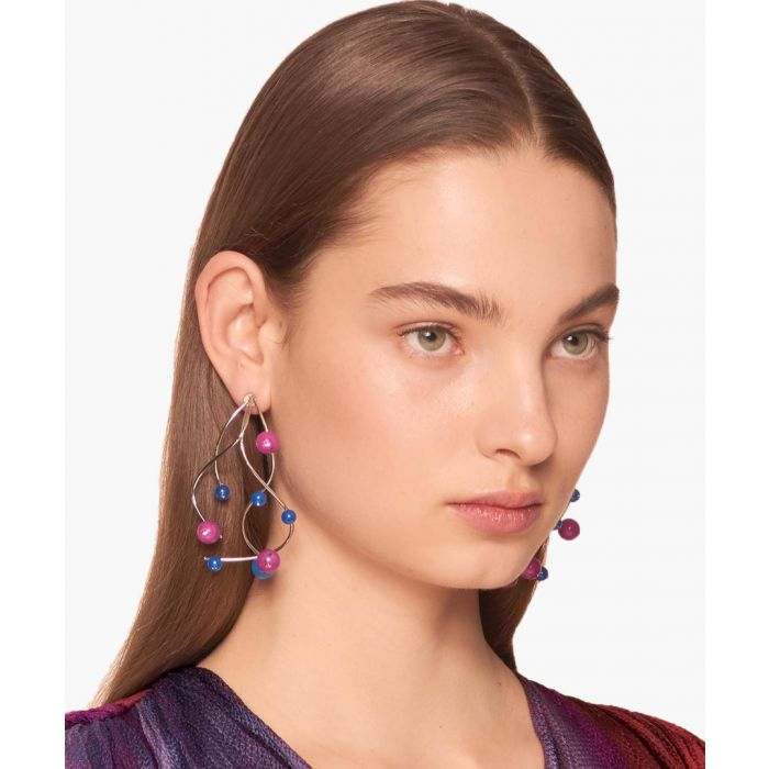 Image for Purple and blue large branch earrings