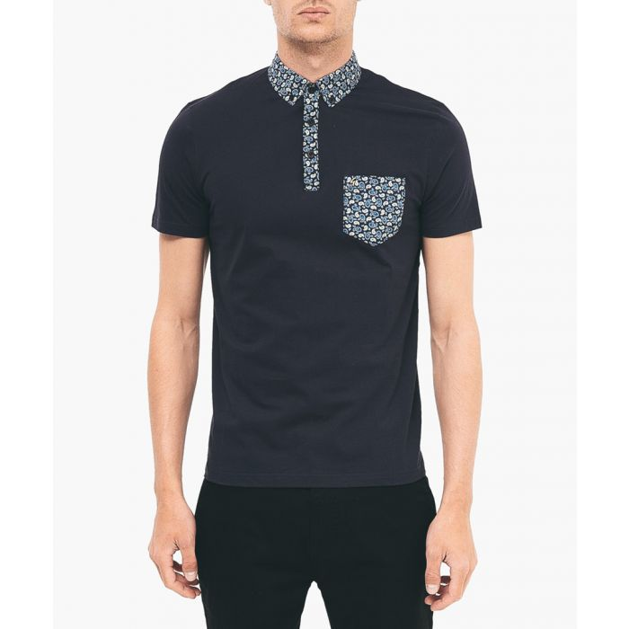 Image for Navy pure cotton polo shirt