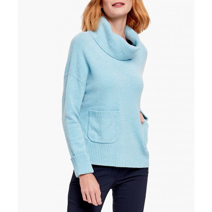 Image for Blue merino wool blend jumper