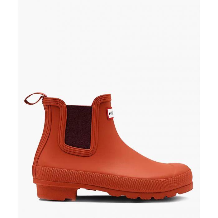 Image for Orange short boots