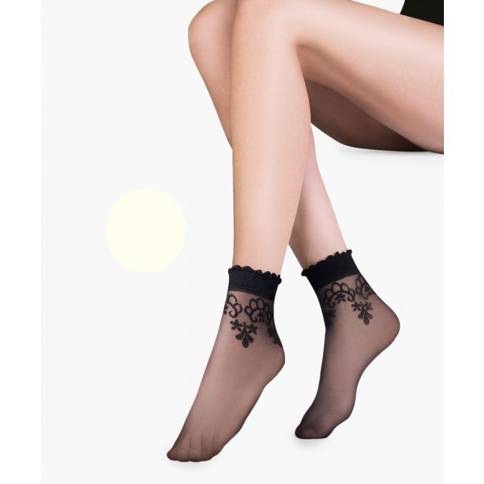 Image for Bea ecru ankle socks 20 denier