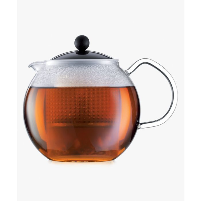 Image for Glass handle coloured tea press 34 oz