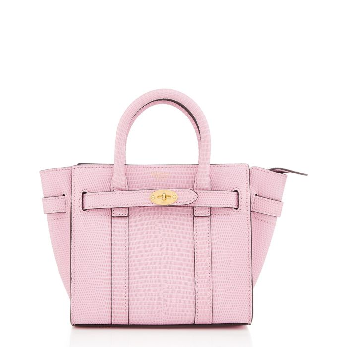 Image for Micro Bayswater pink embossed shopper
