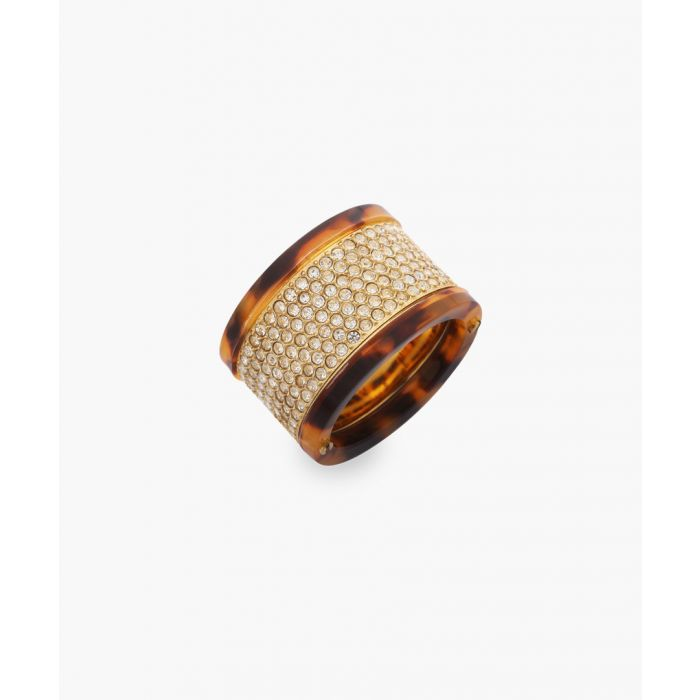 Image for Tortoiseshell stainless steel embezzled ring