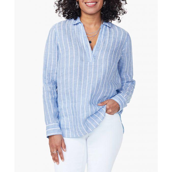 Image for Dream stripe linen popover tunic