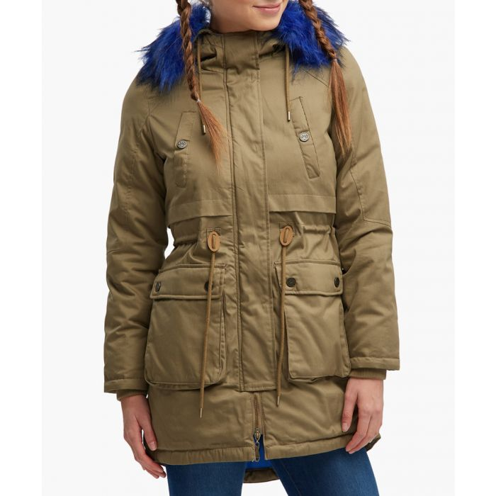Image for Khaki pure cotton parka