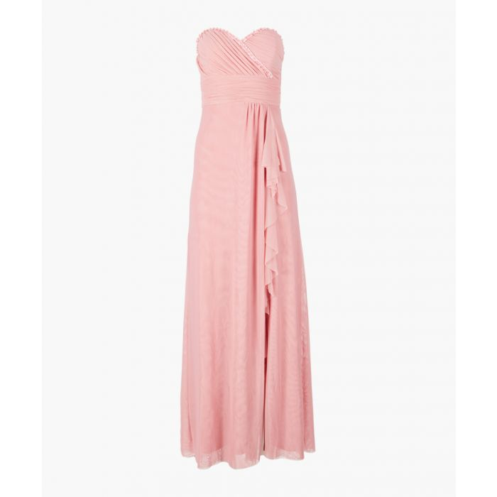 Image for Dusky rose bandeau maxi dress