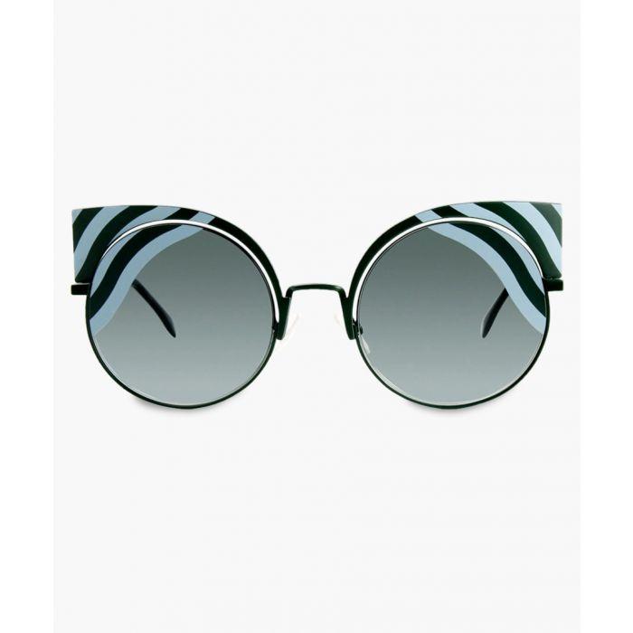 Image for Fendi SUNGLASSES Green Azure / Green Grey Shaded