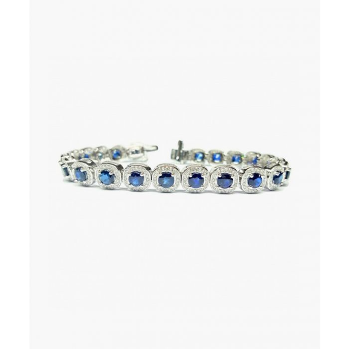 Image for 9k white gold and 11.50ct sapphire bracelet