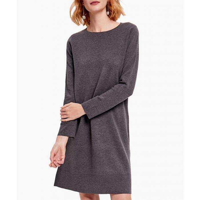 Image for Dark grey cashmere blend dress