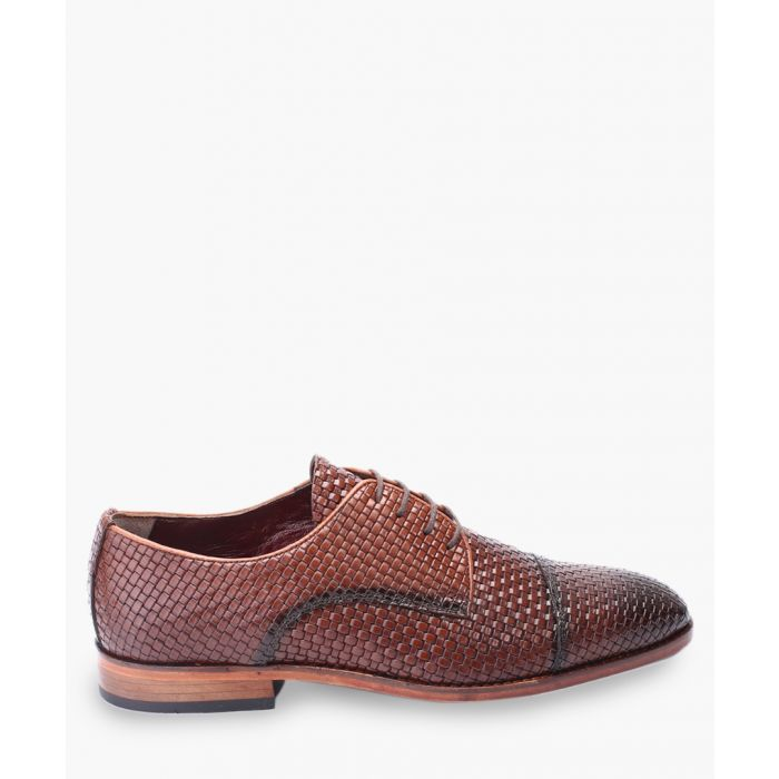 Image for Tan leather Oxford shoes