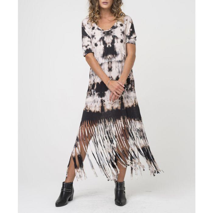 Image for Thunder print semi-sheer midi dress