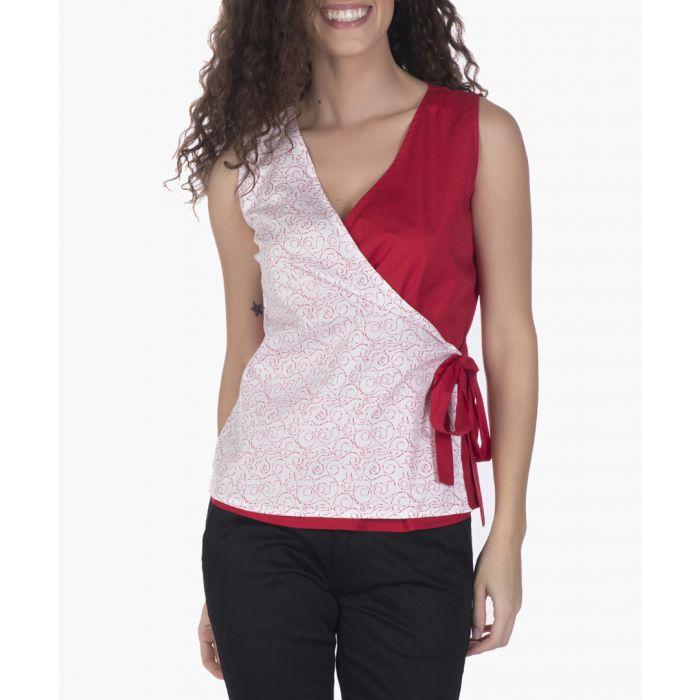 Image for Red cotton blouse