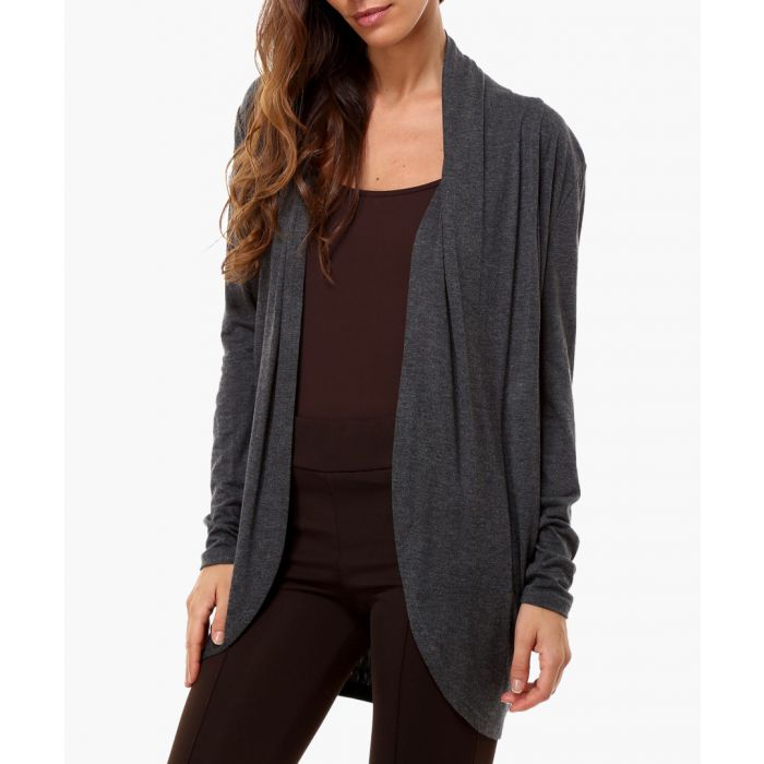 Image for Grey silk blend cardigan