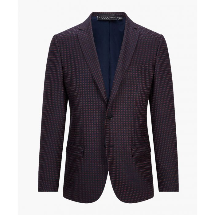 Image for Navy and purple slimsuit jacket