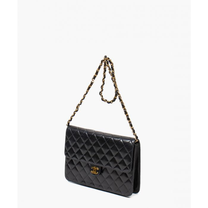 Image for Vintage Single Flap black bag