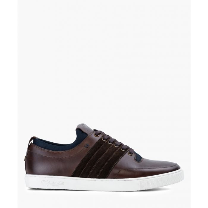 Image for Dark brown leather trainers