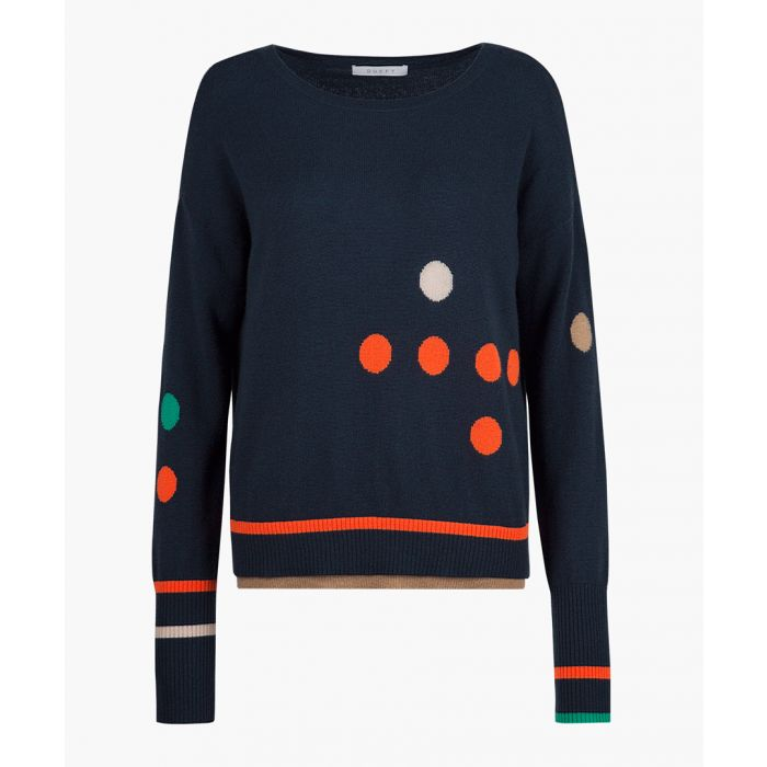 Image for Blue pure cashmere dotted jumper