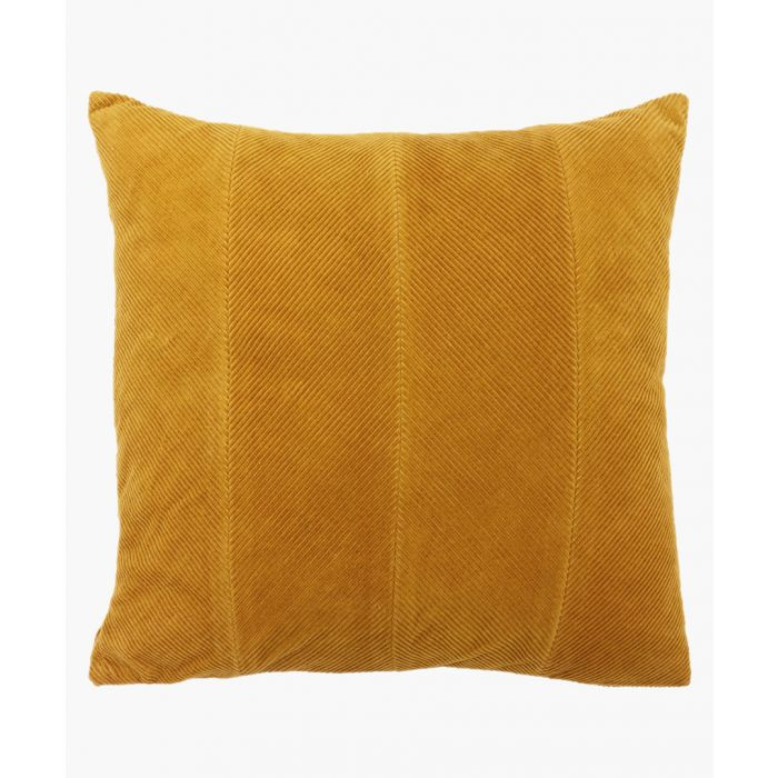 Image for Jagger yellow ochre cotton square cushion