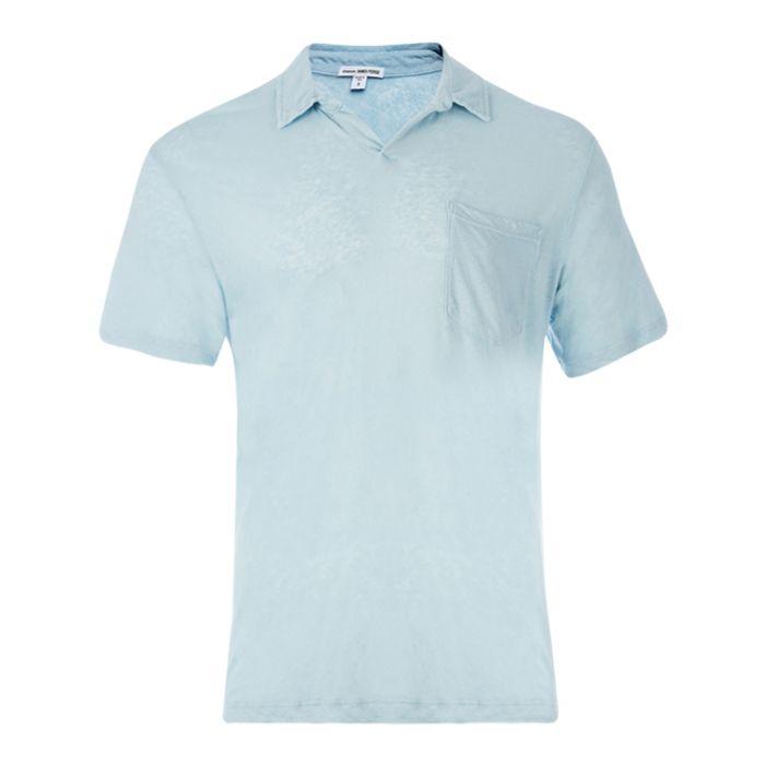 Image for Capri linen & cotton blend polo shirt