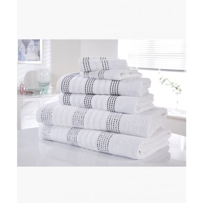 Image for 6pc White cotton towel bale set