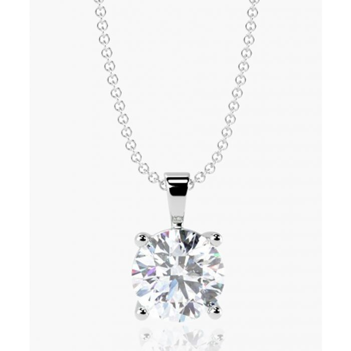 Image for 9k white gold 0.25ct solitaire diamond pendant