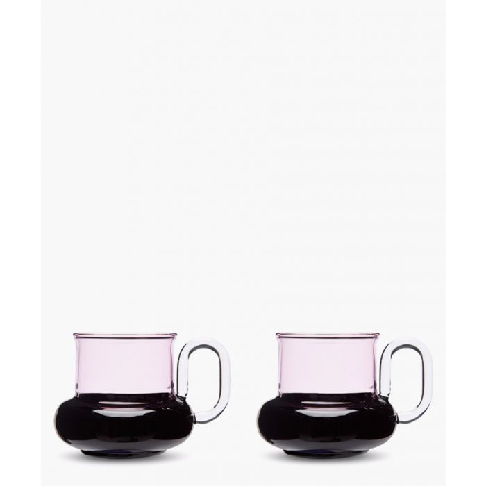 Image for 2pc Bump glass tea cup set