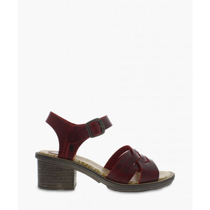 Image for Red block heel sandals