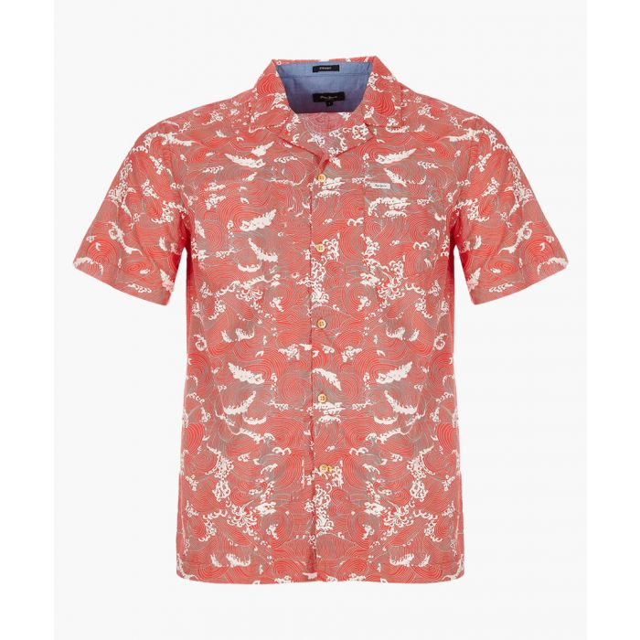 Image for Grimes francois red printed shirt