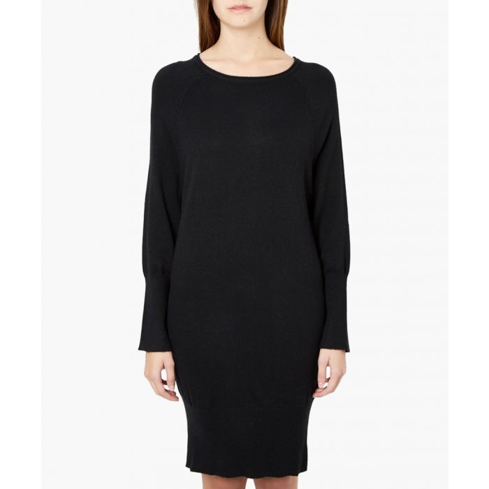 Image for Black cashmere and silk blend dress