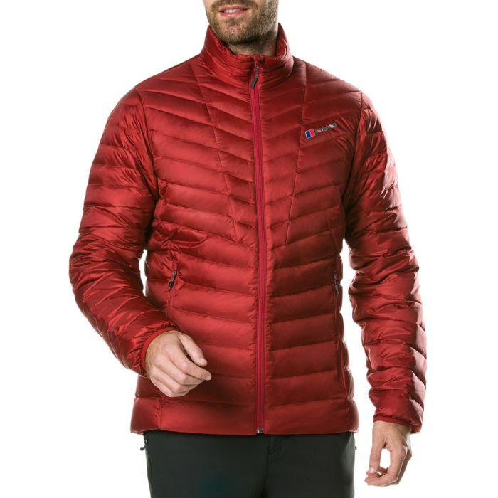 Image for Dark red puffer coat