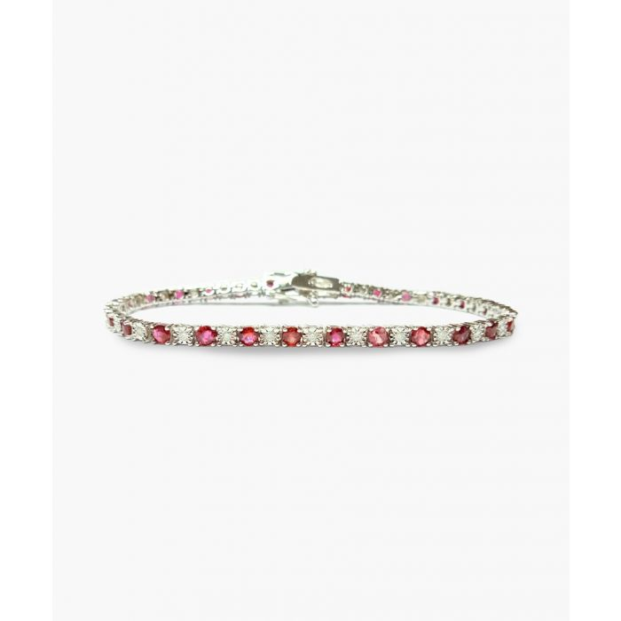 Image for 9k white gold ruby and diamond bracelet