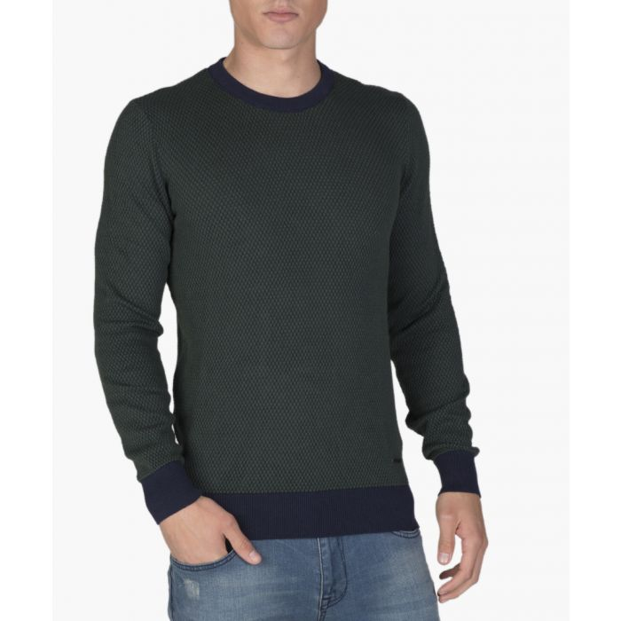 Image for Navy blue and green jumper