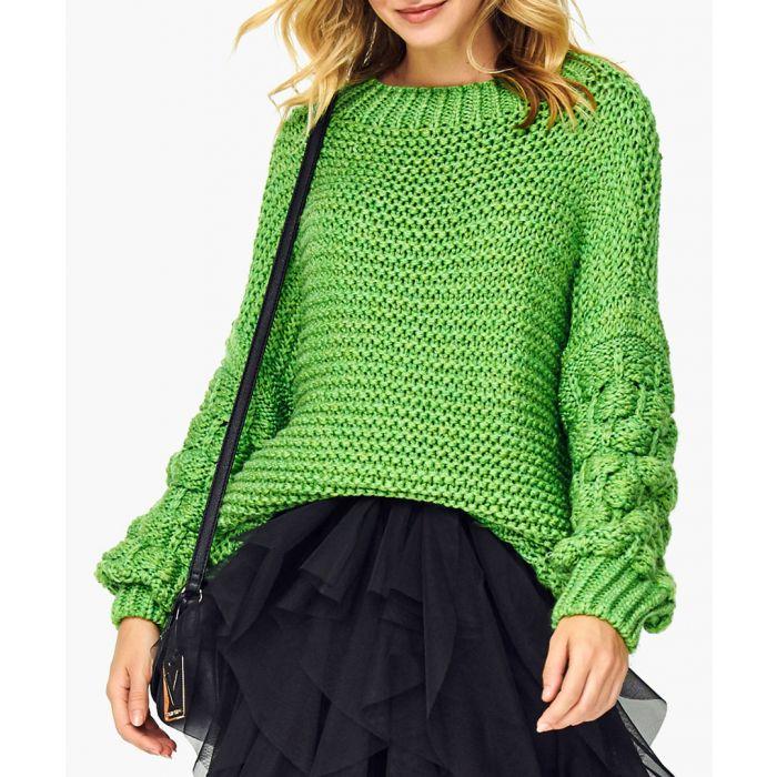 Image for Light blue wool blend jumper