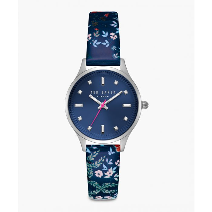 Image for Zoe blue leather and stainless steel watch