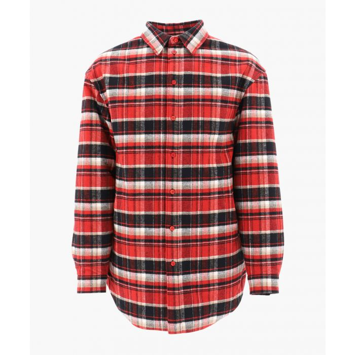 Image for Multi-coloured cotton checked padded shirt