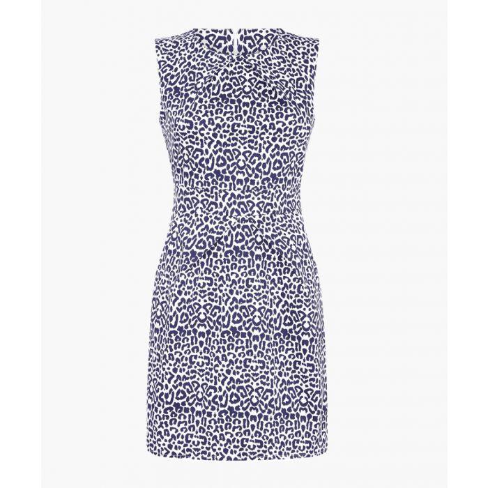 Image for mono leopard print cotton mini dress