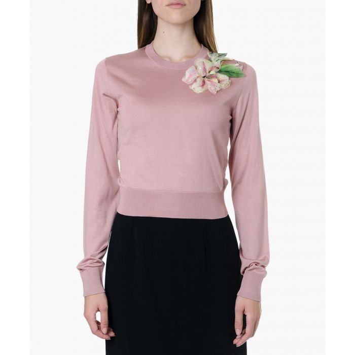Image for floral embroidered sweater