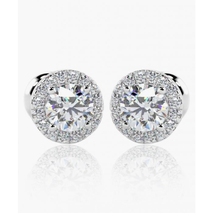 Image for 18k white gold and 0.40ct diamond stud earrings