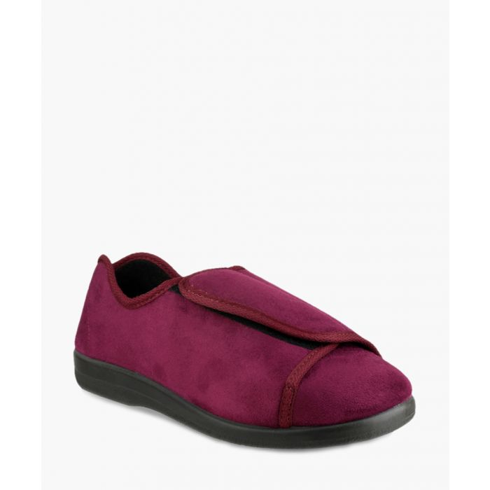 Image for Womens burgundy slippers