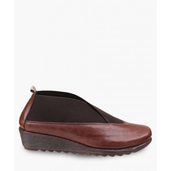Image for Stretch Run chestnut leather shoes